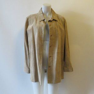 WOMENS NORDSTROM TAN SUEDE JACKET SIZE XL*